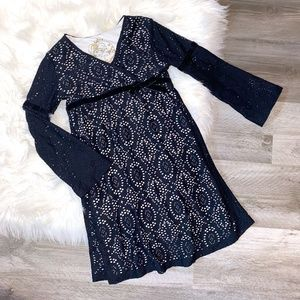 The Children's Place Black Lace Bell Sleeve Dress